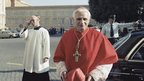 German Cardinal Joseph Ratzinger walks in Rome, Italy in 1981.