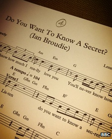 Sheet music for Do You Want To Know A Secret