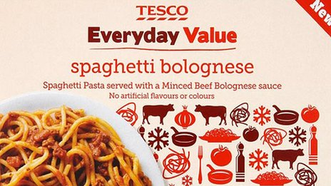 Tesco horsemeat product, sold as beef