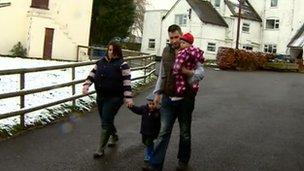 Claire Preston and family