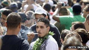 Coloradoans smoke marijuana (20 April 2012)