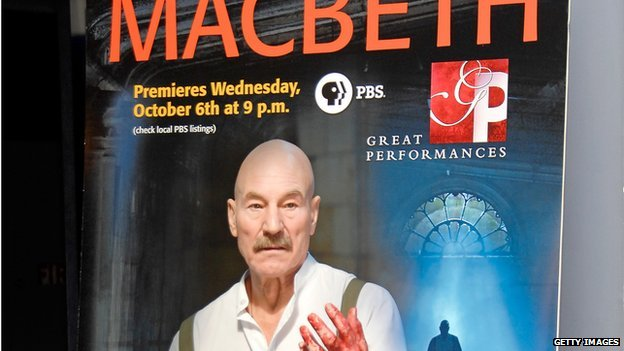 Patrick Stewart in Macbeth