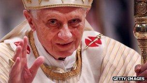 Pope Benedict XVI. Photo: December 2012