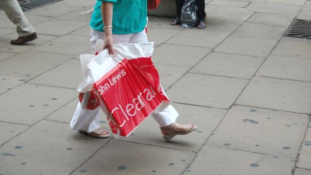 Shopper carrying a bag