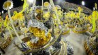 Members of the Academicos do Grande Rio samba school parade on Monday night at the Rio Carnival