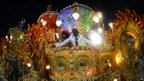 Float of the Beija-Flor samba school on Monday night at the Rio de Janeiro Carnival