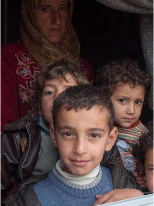 Refugees from Homs