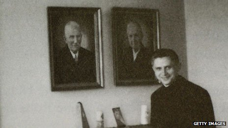 Fr Joseph Ratzinger pictured in 1959