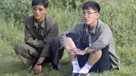 Two North Korean men