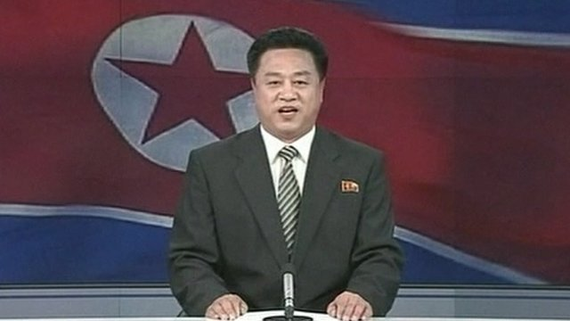 A Korean Central News Agency (KCNA) newsreader announces the latest nuclear test. Source: bbc.co.uk