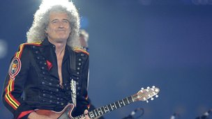 Brian May at the closing ceremony of London 2012