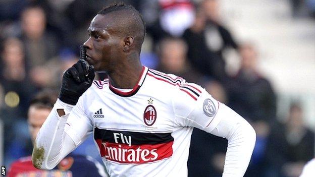 AC Milan striker Mario Balotelli