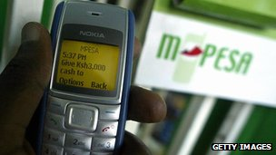 M-Pesa on a Nokia mobile
