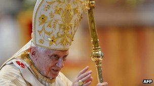 Pope Benedict XVI in January 2013 in the Vatican