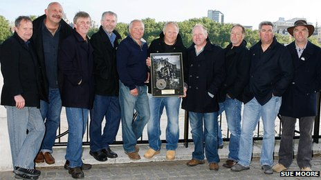 Fisherman's Friends with the gold disc