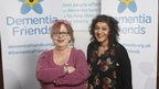 Jo and Meera are 'dementia friends'