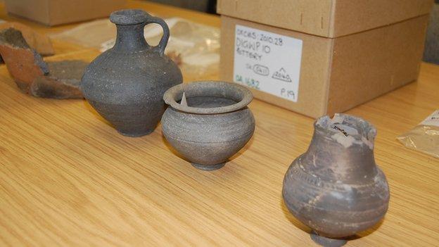 Roman pottery found