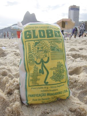 Bag of Globo biscuits