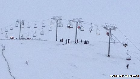 Jennifer Johnston took this picture soon after the incident at the Lecht ski centre