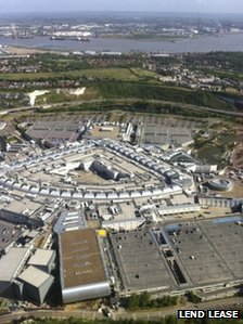 Bluewater - aerial view