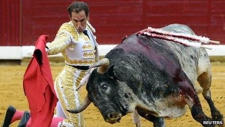 Bullfight in Burgos, northern Spain. File photo