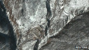 Satellite image of Punggye-ni Nuclear Test Facility in North Korea 11 February 2013