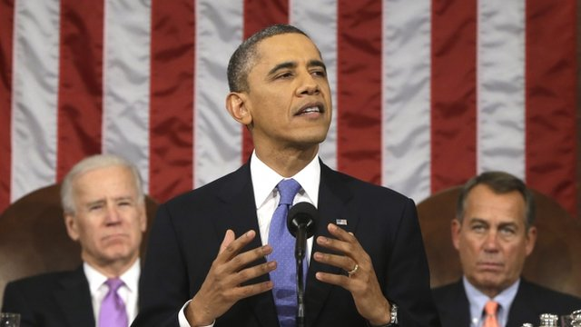 President Barack Obama gives his State of the Union address