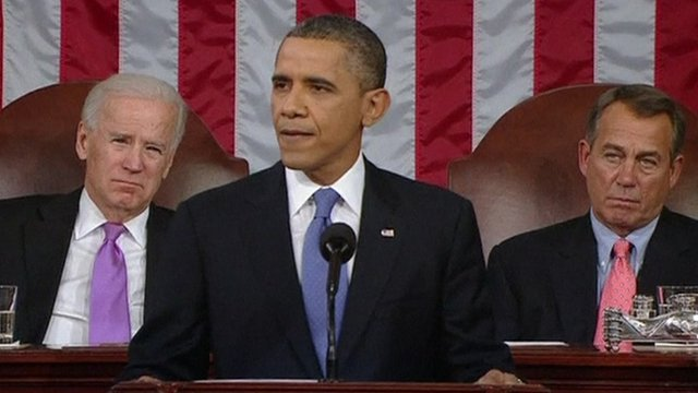 US President Obama during his State of the Union speech