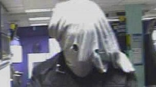'Elephant Man' raider robs bookies
