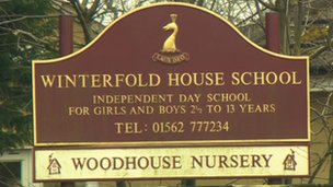 Winterfold House School sign