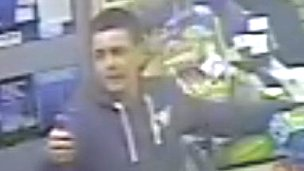 Man in shop in Prestonpans