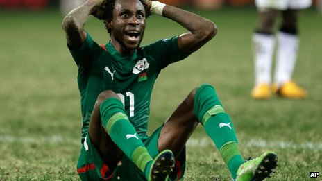 Burkina Faso striker Jonathan Pitroipa (6 February 2013)