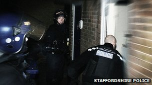 Staffordshire Police drug raids
