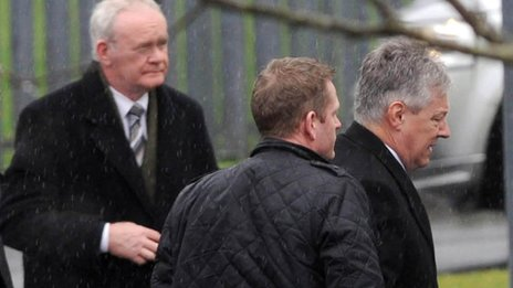 Martin McGuinness and Peter Robinson