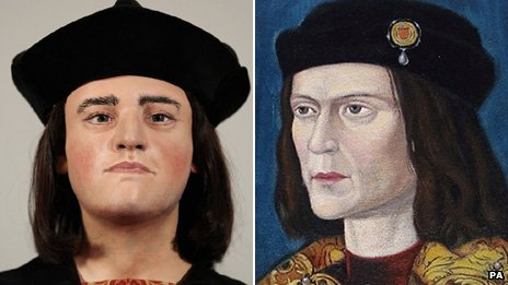 Facial reconstruction from Richard III's skull and a 15th Century portrait