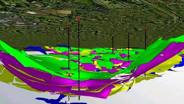 3D geological model of Glasgow