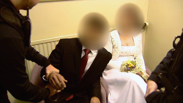 UK Border Agency officers intervene in a wedding
