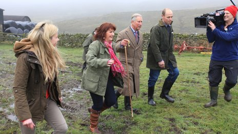 Prince Charles with Countryfile team