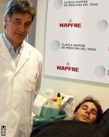 Dr Angel Ruiz Cotorro and Rafael Nadal
