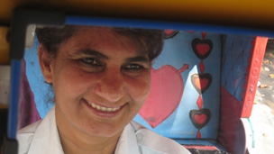 Rickshaw driver Sunita Chaudhary