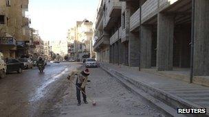 Street in Yabroud (4 January 2013)