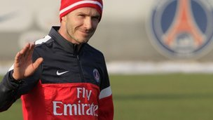 David Beckham trains with PSG