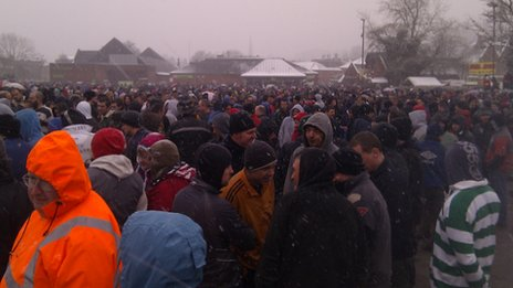 Shrovetide crowds
