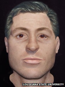A reconstructed clay model believed to resemble Robert Williams