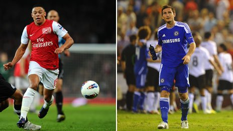 Alex Oxlade-Chamberlain and Frank Lampard: both privately educated