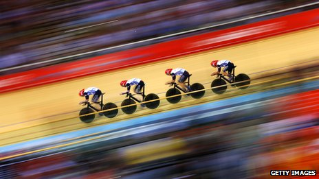 Men's track cyclist team, London 2012