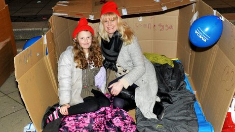 Sleeping out for charity