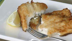Crisp fried plaice