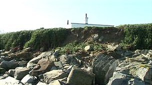 Coastal erosion on Guernsey's west coast