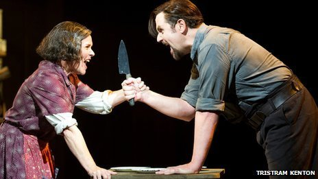 Imelda Staunton as Mrs Lovett and Michael Ball as Sweeney Todd (Photo: Tristram Kenton)
